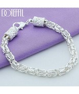 DOTEFFIL 925 Sterling Silver Lobster Clasp Bracelet For Woman Man Fashio... - $16.84