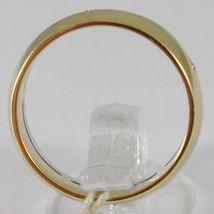 White Gold Ring Yellow 750 18K,Faith Engagement with Diamonds CT image 3