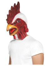 Adult Mens Novelty Funny Chicken Stag Party Fancy Dress Animal Mask - $32.40