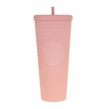 Starbucks Venti Tumbler Studded Matte Pink Diamond Rubberized Cold Cup 24oz - $166.32