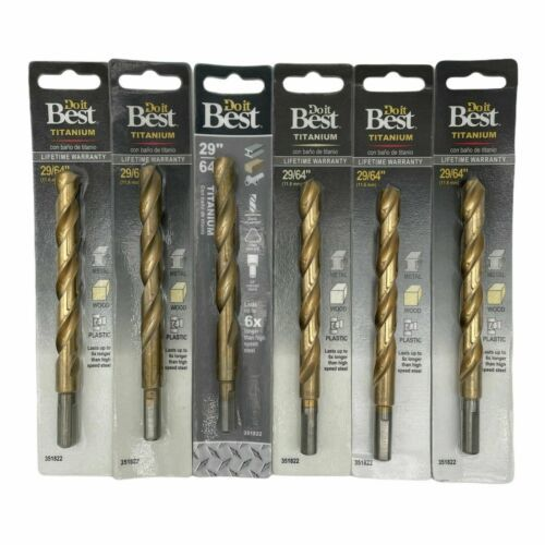 "Primary image for (New) Do it Best Titanium 29/64"" 11, 6mm 351822 (Pack of 6)"