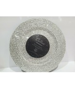 """Cellini Glamour Holiday Silver SPARKLE GLITTER DINNER PLATE CHARGER 13"""" ... - $44.99"""