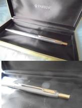 PARKER 75 CLASSIC PENNA A SFERA ACCIAIO E ORO + SCATOLA Steel Ball Pen +... - $29.15