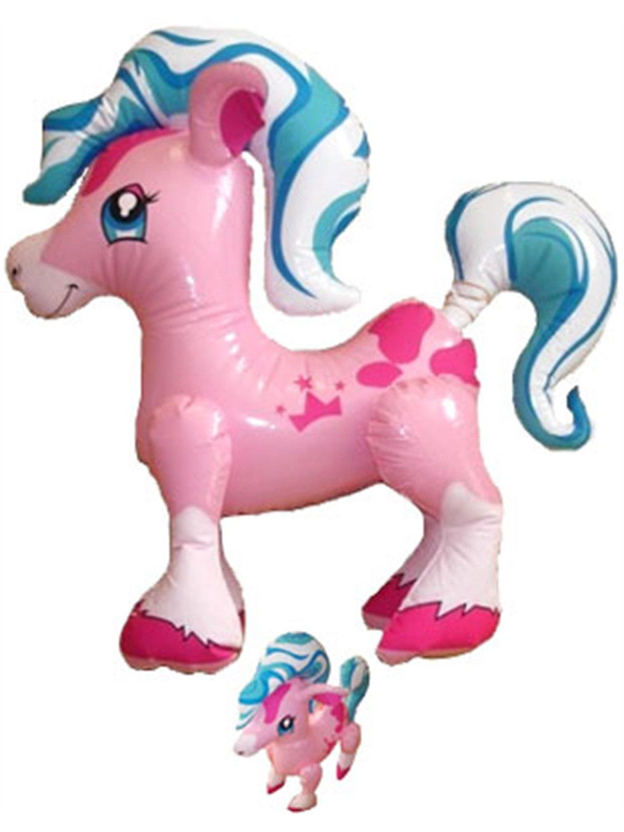 "27"" Inflatable  Pink Little Pony Fun Toy-Play Horse Princess Party"