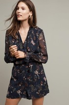 New Anthropologie Botany Romper by Elevenses Retail $158 SMALL Blue - $59.39