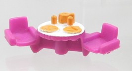 1996 Polly Pocket Dolls Holiday Fun - Patio table & Chairs Bluebird Toys - $7.50