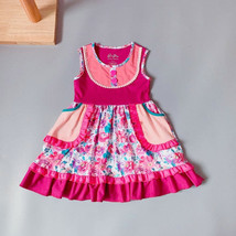 NEW Girls Boutique Pink Floral Sleeveless Ruffle Dress 3-4 5-6 6-7 7-8 - $16.82