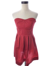Forever 21 Bright Red Holiday Party Strapless Dress Medium - $21.00