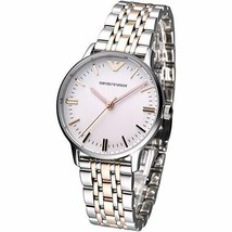 Emporio Armani AR1603 Silver and Rose Gold Womens Watch - £101.20 GBP