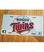 NOS VTG Metal Embossed Front License Plate Car Tag Minnesota Twins MLB B... - $14.35