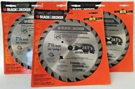 "Black & Decker 77-737 Piranha 7-1/4"" x 24 Tooth Carbide Circular Saw Bla... - $11.88"