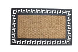 Outdoor Coir Doormat, Geometric Border Decorative 18x30 Welcome Mat - $26.09