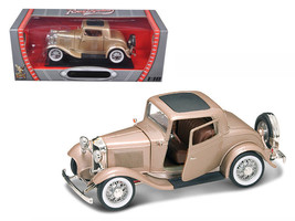 1932 Ford 3 Window Coupe Gold 1/18 Diecast Car by Road Signature - $56.95