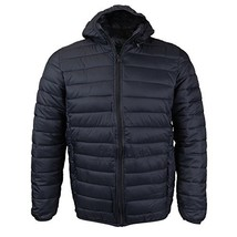 Maximos USA Mens Insulated Packable Hooded Puffer Jacket (Medium, Black)