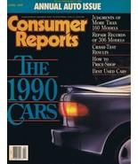 ORIGINAL Vintage 1990 Consumer Reports Magazine Cars Issue - $14.84
