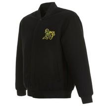MLB Oakland Athletics  JH Design Wool Reversible Jacket Black 2 Front Logos - $129.99