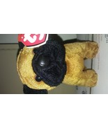 Ty Beanie Babies Rootbeer the brown and black pug dog Brand New with min... - $24.95
