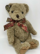 Vintage Ganz Heritage Collection 14' Napoleon Bear Red Paisley Bow 1993 - $11.88