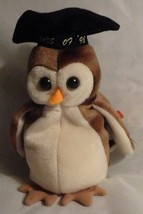 TY Beanie Babies Wise the Owl Bird Stuffed Animal Plush Toy - 7 inches t... - $8.99