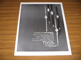 1964 Print Ad Universal Geneve Ladies Watches Tivol Watch Kansas City,MO - $13.96
