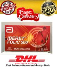 10 X Abbott Iberet Folic 500 30's Iron Vitamin C,B Complex Including Folic Acid  - $189.70
