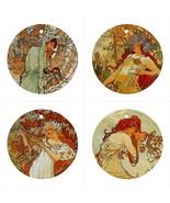 Art Nouveau Ceramic Ornaments Seasons by Alphonse Mucha Women Females Se... - $47.49