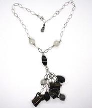 Silver necklace 925, Onyx, Mocha, Coffee Maker, Teapot, Pendants, Quartz Ruti... image 2