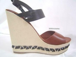 New Kenneth Cole HOLD THAT Brown Black Wedge Shoes 6.5 8 8.5 9 Gift Present  - $79.00