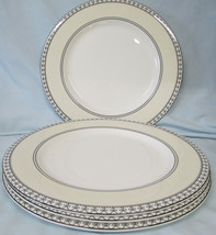 Charter Club Tuilleries Cream Round Buffet or Chop Plate Set of 4 - $40.48