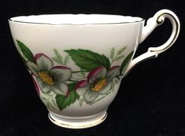 Tea Cup Porcelain Regency Bone China Pink Christmas Rose Flowers Vintage Floral - $9.89