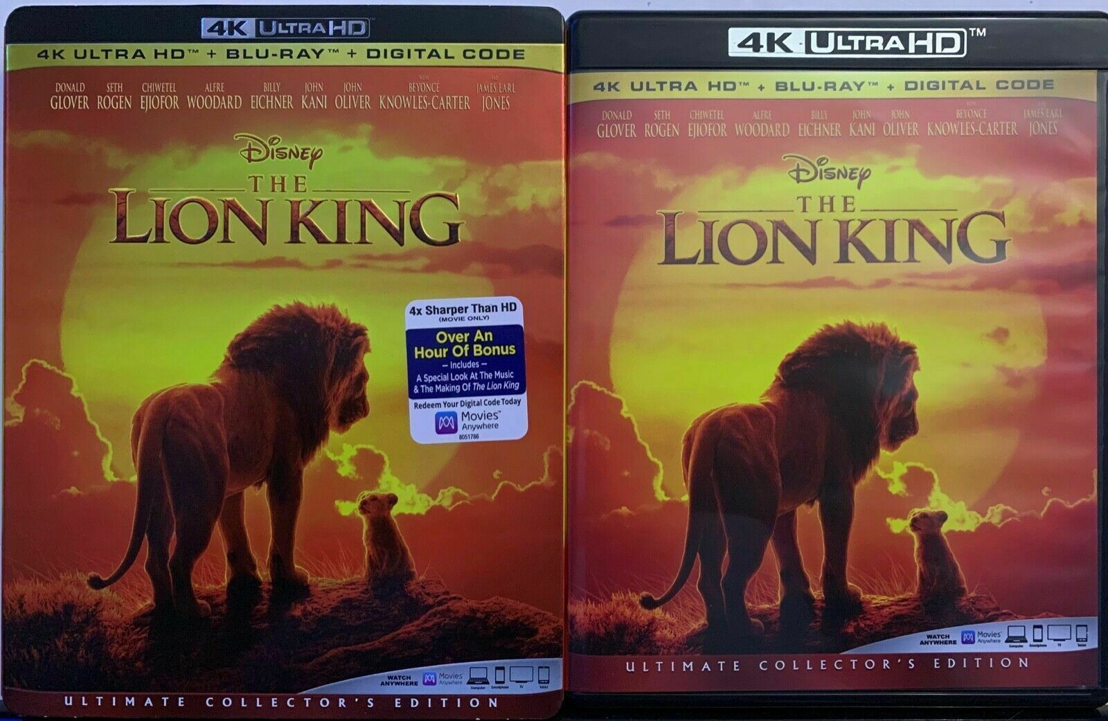Primary image for DISNEY THE LION KING LIVE ACTION 4K ULTRA HD BLU RAY 2 DISC + SLIPCOVER SLEEVE