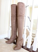 Amaya-01-taupe-over the knee boots - $31.99