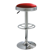 Offex Kitchen Adjustable Seat Height Soda Fountain Style Bar Stool - Red - $86.01