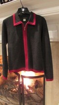 J.Crew Wool Two-Tone Zippered Cardigan Sz S Compare at $90 - $18.81