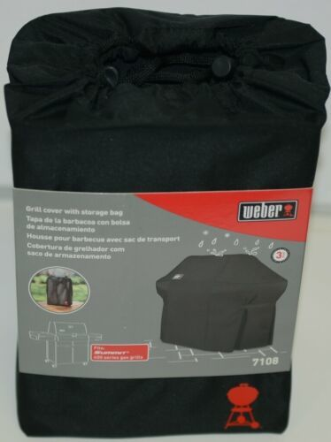 Weber 7108 Grill Cover with Storage Bag Color Black for Summit Gas Grills