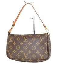 Authentic LOUIS VUITTON Accessory Pochette Monogram Hand Bag #34563 - $329.00