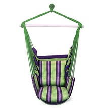 Sorbus Hanging Rope Hammock Chair Swing Seat for Any Indoor or (GREEN PU... - $43.04