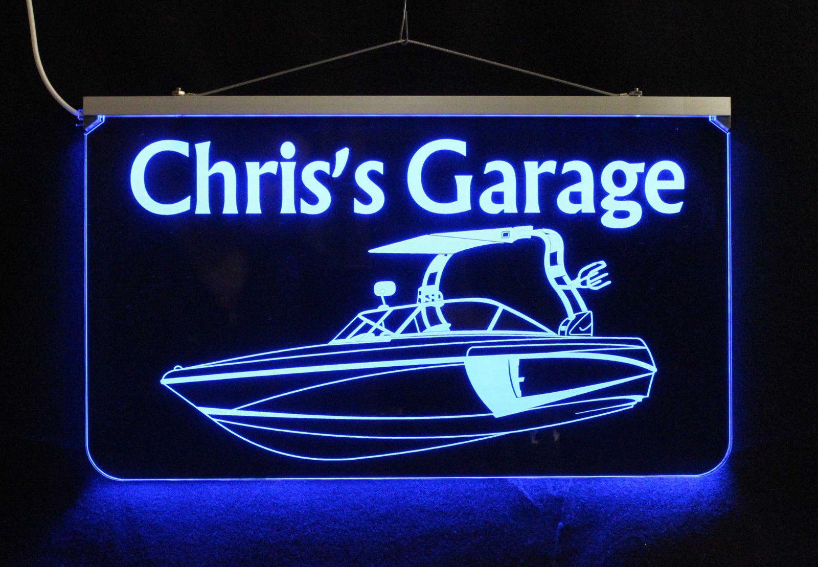 Personalized Boat Sign LED Man Cave Sign- Garage Sign, Bar sign, Camping Sign