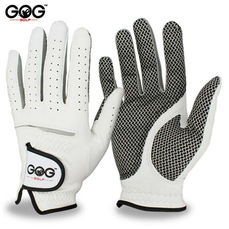 Free Shipping Genuine Leather Golf Gloves Men's Left Right Hand Soft Breathable
