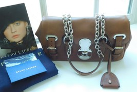 RALPH LAUREN COLLECTION CALFSKIN RICKY BAG IN RL GOLD $1950+ - $1,039.50