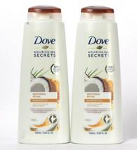 2 Dove Nourishing Secrets 13.52 Oz Restoring Ritual Coconut Oil Turmeric Shampoo - $22.99