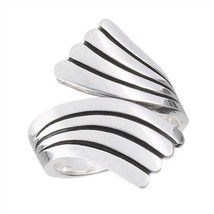 925 Sterling Silver Adjustable Spoon Ring Size 7-10 - $33.99