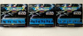 Vtg Micro Machines Space Star Wars Imperial Pilots Officers Jawas Lot Ga... - $34.19