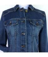 Eddie Bauer Stretch Denim Jacket Woman's Medium Specially Dyed Vintage Wash - $33.81