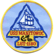 """3"""" NAVY USS MANITOWOC COUNTY LST-1180 EMBROIDERED PATCH - $23.74"""