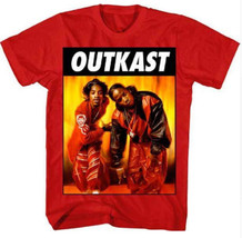 New OUTKAST Kneeling Photo Adult Large Red Cotton Hip Hop Rap T-shirt - $14.85