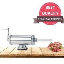 Sausage Filler Homemade Meat Stuffer Aluminum Manual Maker With Suction ... - $31.27
