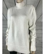 RACHEL Rachel Roy Winter White Ribbed Trim Cozy Mock-neck Tunic Sweater ... - $28.79
