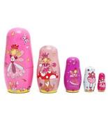 5pcs/Set Wooden Angel Fairy Russian Babushka Matryoshka Nesting Dolls - $18.46