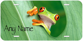 Red Eye Frog Personalized Any Name Novelty Car Auto License Plate - $14.95